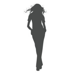 0003. Девушка с распущенными волосами