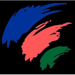 0023. Мазки краски