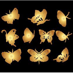 0193. Комплект золотых бабочек