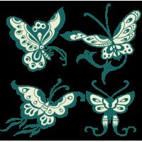 0205. Комплект бабочек