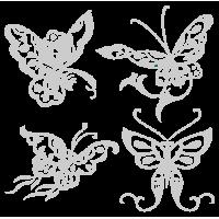 0210. Комплект серебряных бабочек