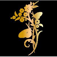 0215. Цветок с бабочкой