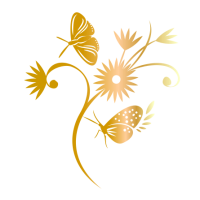 0216. Цветок с бабочкой