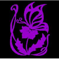 0225. Бабочка с цветком
