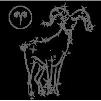 0567. Знак зодиака контуром Овен