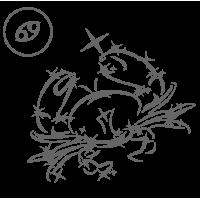 0570. Знак зодиака контуром Рак