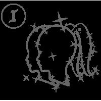0571. Знак зодиака контуром Близнецы