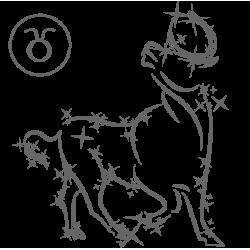 0572. Знак зодиака контуром Телец