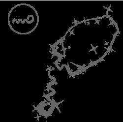 0574. Знак зодиака контуром Водолей