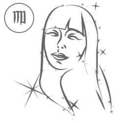 0575. Знак зодиака контуром Дева