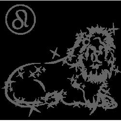 0576. Знак зодиака контуром Лев