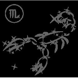 0577. Знак зодиака контуром Скорпион