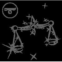 0578. Знак зодиака контуром Весы