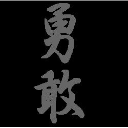 0664. Иероглиф Храбрый - Смелый