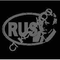 0760. Наклейка RUS с Путиным