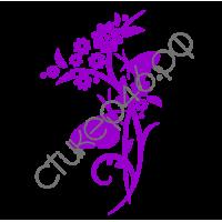 0872. Цветок с бабочками