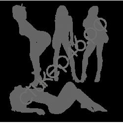 0984. Девушки силуэт