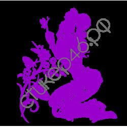 0996. Девушка с цветком