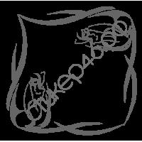 0999. Девушка уголком контуром 2 наклейки в комплекте