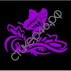 1067. Бабочка с цветком