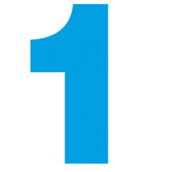 1175. Самоклеющаяся цифра 1