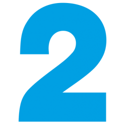 1176. Самоклеющаяся цифра 2
