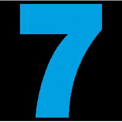 1181. Самоклеющаяся цифра 7