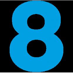 1182. Самоклеющаяся цифра 8