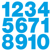1185. Комплект самоклеющихся цифр