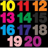 1186. Комплект самоклеющихся цифр