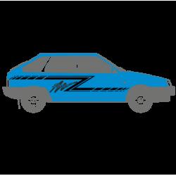 1189. Полоска на бок автомобиля 2шт. Ваз 2109