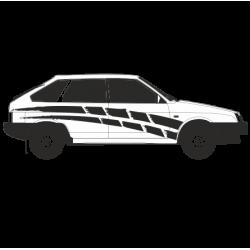1192. Полоска на бок автомобиля 2шт. Ваз 2109