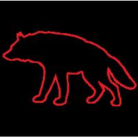 1220. Волк с контуром
