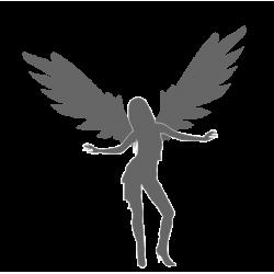 """1275. Наклейка """"Девушка ангел"""""""