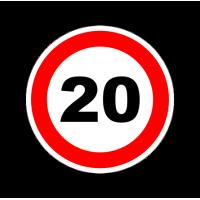 """1297. Наклейка """"Знак ограничение скорости"""" 20 км/ч"""