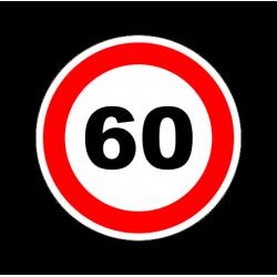 """1301. Наклейка """"Знак ограничение скорости"""" 60 км/ч"""