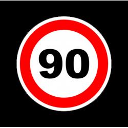 """1304. Наклейка """"Знак ограничение скорости"""" 90 км/ч"""