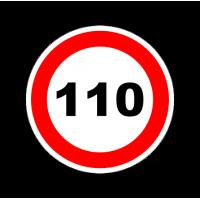 """1306. Наклейка """"Знак ограничение скорости"""" 110 км/ч"""