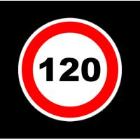 """1307. Наклейка """"Знак ограничение скорости"""" 120 км/ч"""