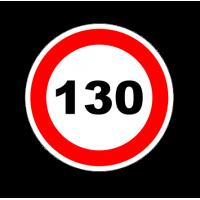"""1308. Наклейка """"Знак ограничения скорости"""" 130 км/ч"""