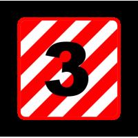 """1311. Наклейка без основания (светоотражающая пленка) автознак """"Крупногабаритный груз"""""""