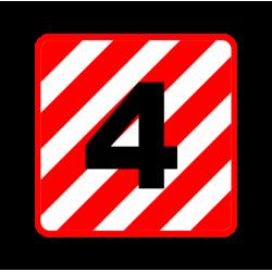"""1312. Наклейка на оцинковке  (автознак) """"Крупногабаритный груз"""""""