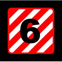 """1314. Наклейка на пластике светоотражающая плёнка (автознак) """"Крупногабаритный груз"""""""