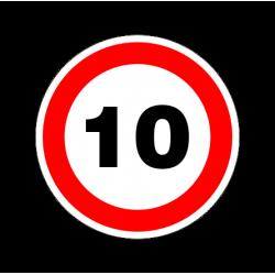 """1316. Наклейка  светоотражающая """"Знак ограничение скорости"""" 10 км/ч"""