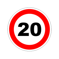 """1317. Наклейка светоотражающая """"Знак ограничение скорости"""" 20 км/ч"""