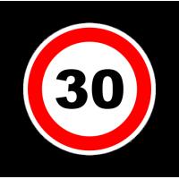 """1318. Наклейка светоотражающая """"Знак ограничение скорости"""" 30 км/ч"""