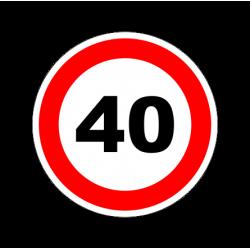 """1319. Наклейка светоотражающая """"Знак ограничение скорости"""" 40 км/ч"""