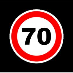 """1322. Наклейка светоотражающая """"Знак ограничение скорости"""" 70 км/ч"""