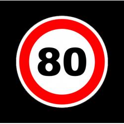 """1323. Наклейка светоотражающая """"Знак ограничение скорости"""" 80 км/ч"""
