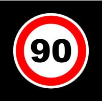 """1324. Наклейка светоотражающая """"Знак ограничение скорости"""" 90 км/ч"""